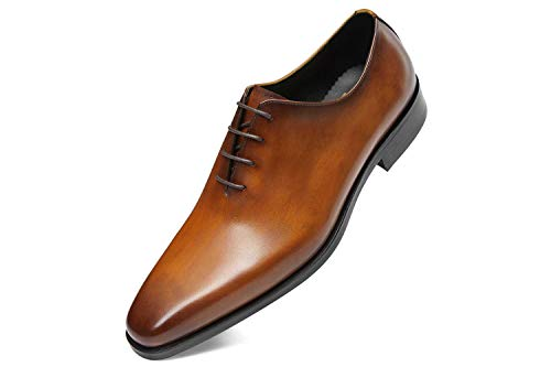 Men's Dress Shoes Oxford Formal Leather Shoes for Men 12US Brown