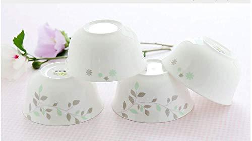 Ciotole di HUAHUA Bone China Bowl 4,5 pollici zuppiera di porcellana ciotola di riso domestico osso noodle ciotola da tavola il dessert ciotola di ceramica