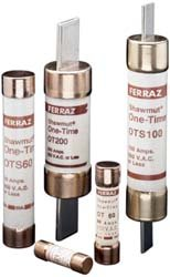 "Mersen OT Class K-5 General Purpose Fuse, 250VAC/DC, 50kA AC/20kA DC, 125 Ampere, 1-9/16"" Diameter x 7-1/8"" Length"