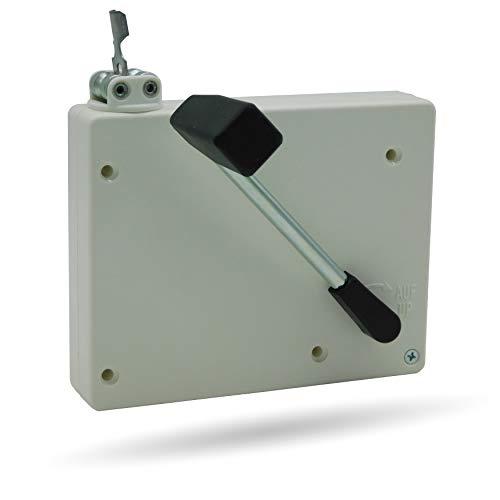 Rolladen Schnurwickler Getriebewickler ohne Schnur mit Kurbel | Auslass lange Seite