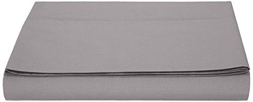 AmazonBasics, Lenzuolo in microfibra, 240 x 320 + 10 cm - Grigio Scuro