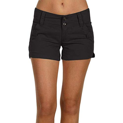Dasongff Damen Shorts, Kurze Chino Hosen, Damenhosen, Bundfaltenhosen, Button Up Bermuda Kurze Hose, Stilvoll Chino-Hose, Bequeme Stoffhose,Hot-Pants,S-5XL