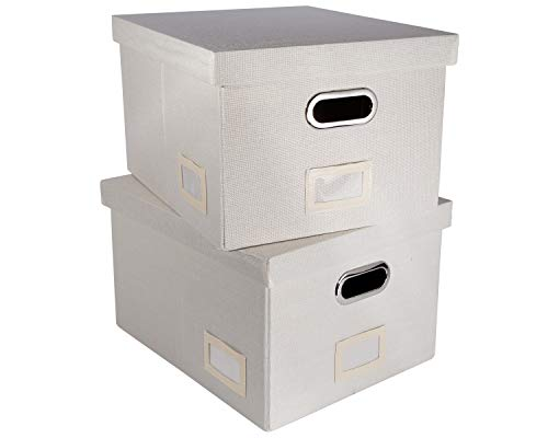 Dekorative Hängeregister-Box aus Stoff...