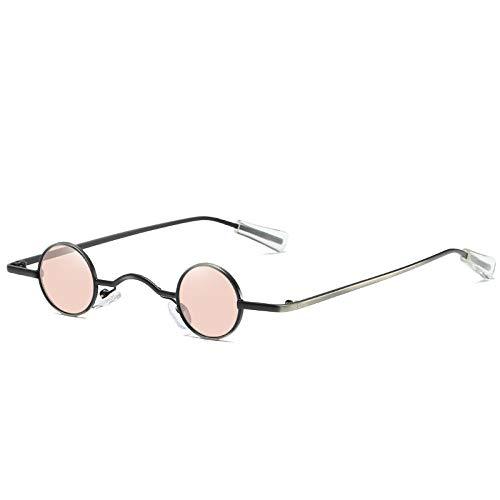 DLSM Ultra Kleiner Rahmen runde Punk-Sonnenbrille Männer und Frauen Flut hängende Nase Street Shot Sonnenbrille Retro Sonnenbrille Fahrbrille-C2