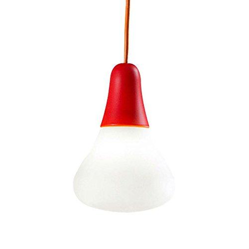 CIULIFRULI - Suspension d'extérieur Rouge/Blanc H19cm - Luminaire d'extérieur Martinelli Luce designé par Emilliana Martinelli