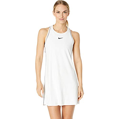 Nike Damen W NKCT Dry Kleid, Weiß (White/Black), M