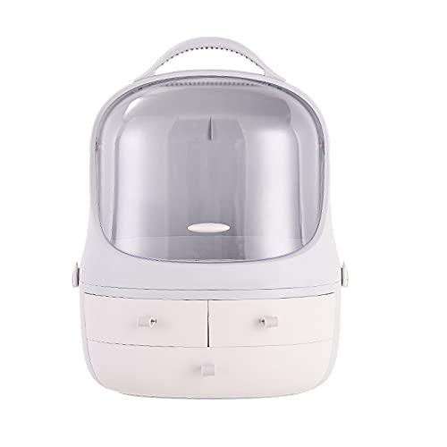 HRTX Caja De Almacenamiento De Maquillaje, Caja De Almacenamiento De Cosméticos Portátil A Prueba De Polvo, Aparador, Dormitorio, Caja De Almacenamiento De Joyas De Cosméticos De Baño