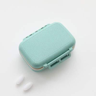 Preisvergleich Produktbild Kleine Pillendose,  tragbar,  große Kapazität,  für Reisen,  Wochen,  Pillendose,  Japan Seal Mini Größe blau