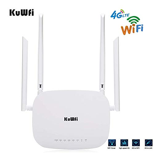 KuWFi WiFi router Wireless 4G LTE CPE router Cat4 Wireless CPE router met SIM Card slot externe dual antennes