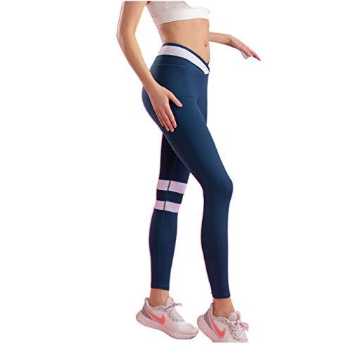 Sanniya Leggings y Medias Deportivas para Mujer Ligero y Transpirable Cintura Alta Opaco Pantalones de salón de luz Ajuste Ajustado y rápido Secado Ropa Deportiva Mujer Yoga
