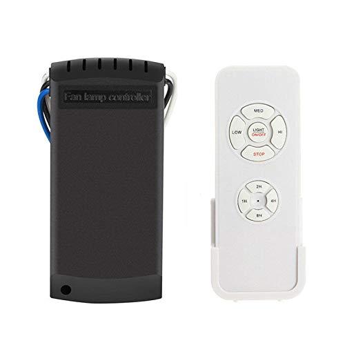 Senmubery Universal Kit de Control Remoto para Ventilador de Techo y Luz Sincronización Interruptores Inalámbricos
