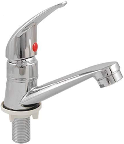 Klassisches, elegantes Badezimmer-Waschbeckenarmatur, Küchenarmatur, Einhebelmischer für Waschbecken, Kaltwasserarmaturen – Chrom-Finish