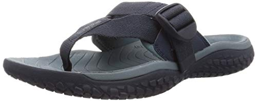 KEEN Men's SOLR Toe Post Flip Flop Water Sandal, Navy/Stormy Weather, 8
