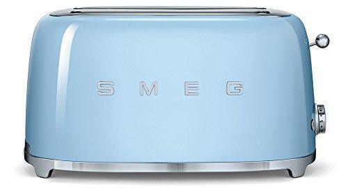 SMEG TSF02PBEU | Broodrooster 4 plakjes 50's Style | Kleur : pastelblauw
