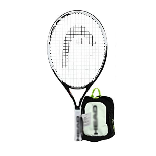 Racchette Da Tennis per Bambini Tennis per Principianti Allenamento Tennis Professionali degli Urti 21/23/25 Pollici (Color : Black, Size : 25 Inches)