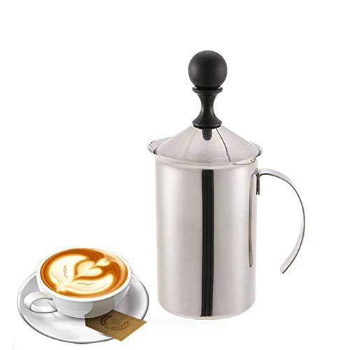 Handheld melkopschuimer, Hotel Chocolate Velvetiser, ingebouwde veer met dubbele Mazen ontworpen for Koffie Cappuccino Extra in cafés, restaurants, theehuizen, Etc zhihao