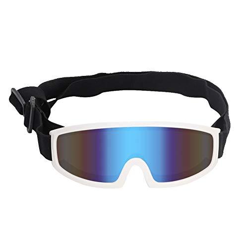 Minnya hond UV bril zonnebril voor hond winddichte hond zonnebril huisdier ogen bescherming bril huisdier decoraties ogen beschermende accessoires met brede lens ontwerp, Kleur: wit