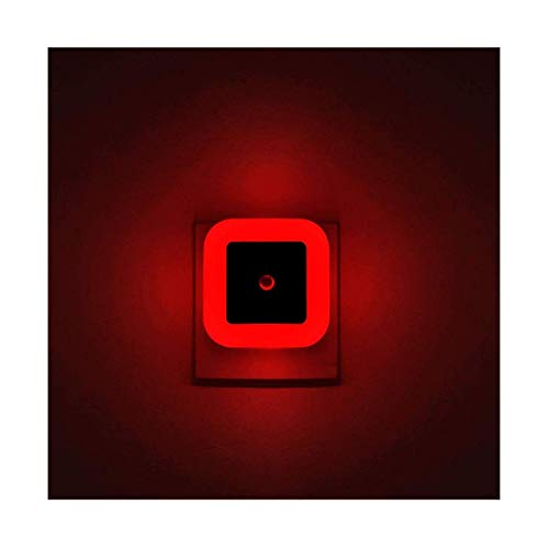 [ Pack of 4 ] Red Night Light, Plug in LED Wall Lamp with Dusk to Dawn Sensor, Auto ON/Off - Perfect for Bedroom, Baby and Kid's Room