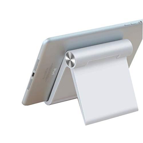 KHFFH Mobiele telefoon houder- Draagbare Telefoon Stand, Opvouwbare Hoek Ontwerp Mobiele Mobiele Telefoon Stand Houder, voor Slaapkamer, Kantoor, Badkamer Alle Telefoons En Tabletten Luie Beugel Voor White-12x10.7cm