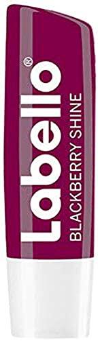 Labello Blackberry Shine im 1er Pack (1 x 4,8 g), Lippenpflegestift mit zartrotem Glanz und Schimmerpigmenten, Lippenpflege ohne Mineralöle