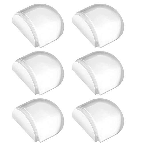 Tope de Puerta para Suelo, Juego de 6 Unidades, Tope Puerta Adhesivo, Topes para Puertas Transparente Autoadhesivo Protección de Pared y Muebles