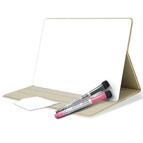 Oterri Pizarra blanca portátil A4 de 31 x 21 cm con funda protectora, mini pizarra blanca portátil para el escritorio, se puede limpiar con un paño, pizarra blanca pequeña, para oficina,escuela