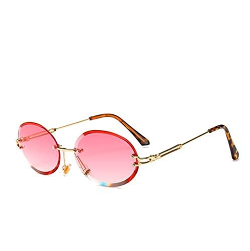 ZZZXX Gafas De Sol HombresElipse Sin Marco Polarizadas Uv400 Protección Para Conducir Pesca Al Aire Libre Marco De Acetato,Con Caja De Regalo Y Paño Para Vasos