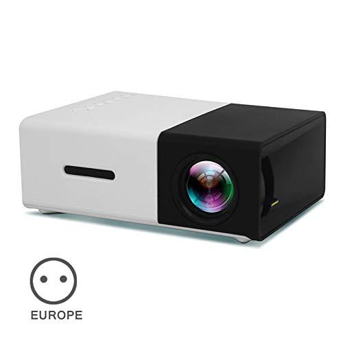 Gizayen Mini Portátil Proyector de Cine en Casa Altavoces Duales Incorporados Soporte HD 1080P HDMI/USB/AV/Micro SD, Portátil de Cine en Casa Office de 60 Pulgadas, Distancia de hasta 1m-2 m (Black)