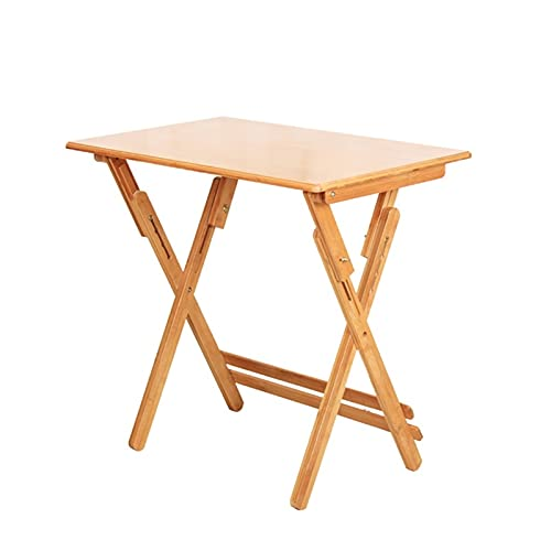 MQQ Mesa Plegable, Mesa De Escritorio De Madera De Bambú Ajustable, Estudio Cuadrado Multifunción, Oficina, Mesa De Mesa Tableta Portátil Treste (Color : 80cm)
