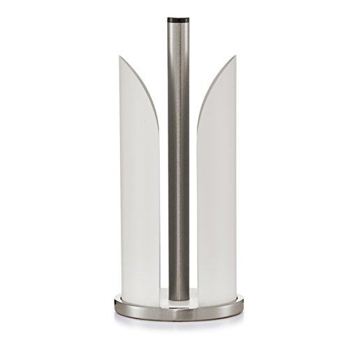Zeller 27215 Küchenrollenhalter, Edelstahl/Metall, ca. 15 x 30,5 cm, matt weiß