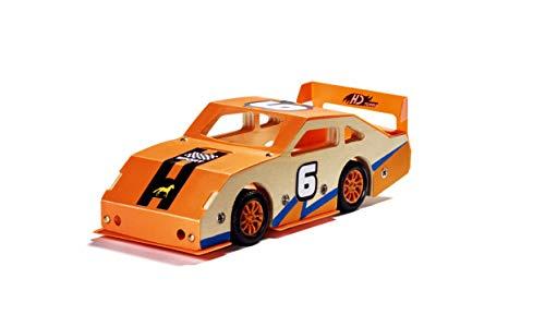 Stanley Jr Custom Orange Race Car - DIY Woodworking Model Kits for Kids - Easy...