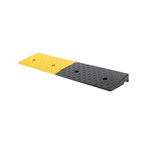 Huishoudelijke Garage Curb Ramps, Rubber Maximale overspanning Slope Pad Sunscreen Weerstand Op hoge temperatuur Outdoor Step Ramps (Size : 98.5 * 24.5 * 5.8CM)