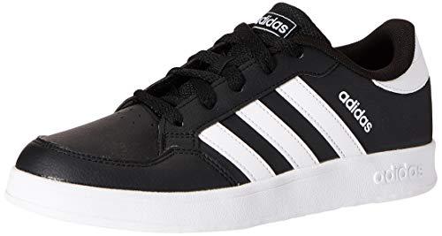 adidas BREAKNET K Tennis Shoe, Core Black FTWR White Core Black, 4 UK