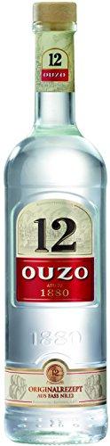 Ouzo 12 - Das authentisch griechische Original mit seinem weichen, aromatischen Anisgeschmack aus dem Fass Nr. 12. / (1 x 0.7 l)