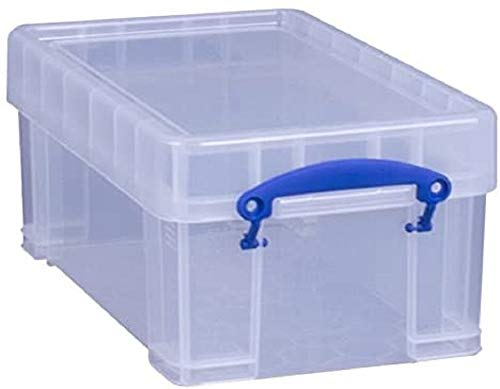 PP cajas y cestas de almacenaje , Mon/ótono, Rectangular Storage box, Transparente, -15-80 /°C, Polipropileno Really Useful Boxes 22C caja y cesta de almacenaje