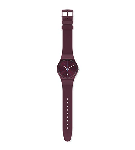 Swatch Reloj Analógico para Hombre de Cuarzo con Correa en Silicona SUOR402