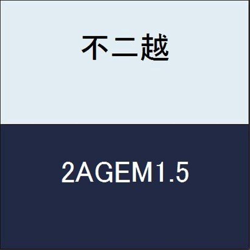 揺れる流暢メニュー不二越 切削工具 AGミルスクエアミディアム 2AGEM1.5
