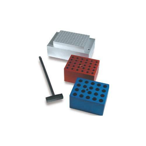 Techne 6014463 austauschbarer Aluminiumblock für Blockheizung, 95 mm Tiefe, 76 mm Breite, 51 mm Höhe, 6 Löcher x 26 mm Rohrdurchmesser