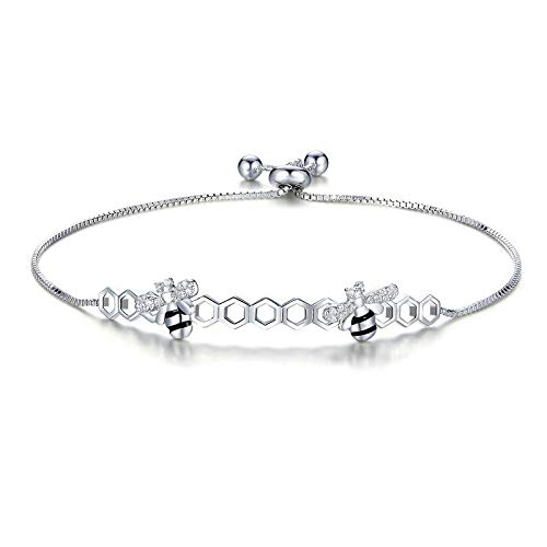 HJPAM 925 sterling zilveren honingraat bijen armband dames hete verkoop bijenkorf ketting verstelbare armband mode bruiloft accessoires