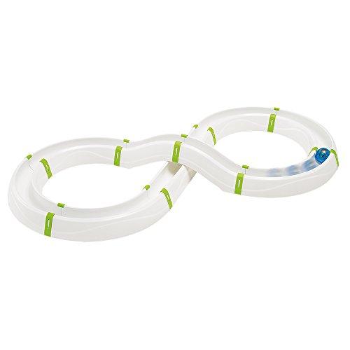 Ferplast 85100300 Katzenspielzeug Typhon, Spielzeug mit modularer Straße, Maße: 85 x 40 x 10 cm, weiß/grün