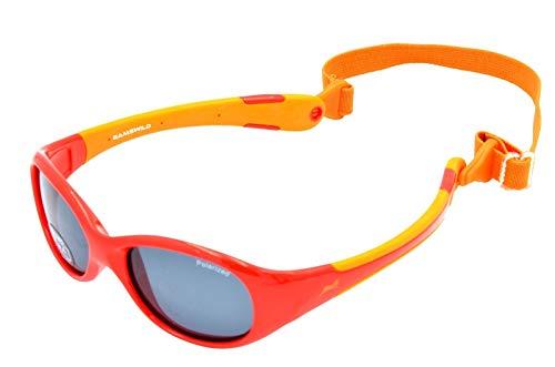 Gamswild WK5618 Sonnenbrille Kinderbrille 2-5 Jahre Babybrille Kleinkindbrille Mädchen Jungen Unisex blau - grün   rosa   rot - orange   GAMSKIDS, Farbe: Orange