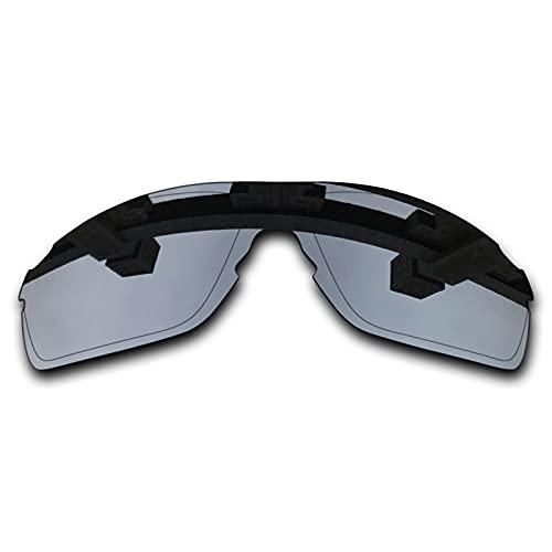 SYEMAX Lentes de repuesto para espejo polarizado, compatibles con Oakley EVZero Pitch (OO9383) Sunglass - Múltiples opciones, (Titanio plateado polarizado), Talla única