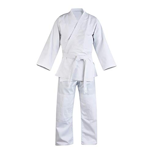 Yiliankeji Niño Adulto Karate Traje Artes Marciales Sudadera - Taekwondo Kimono Vestido Dobok Aikido Judo Conjuntos Kung Fu Trajes Cinturón Libre Entrenamiento Deportes Uniforme Ropa Blanco