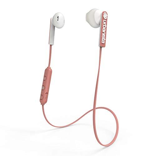 Auriculares magnéticos con Bluetooth Urbanista Berlin [Libertad SIN Cables], hasta 4 Horas de reproducción, Gestión de Llamadas con micrófono - Rose Gold