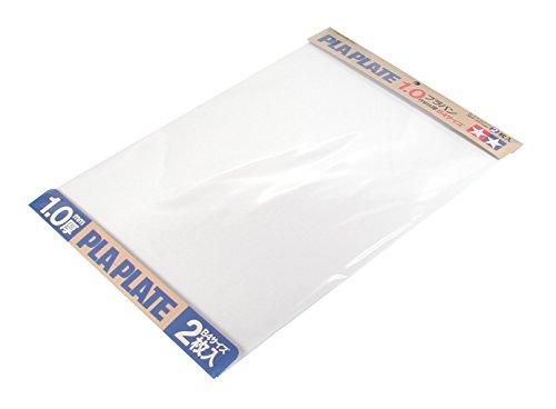 TAMIYA 70124 - Kunststoff-Platte 1.0 mm, 2 Stück, 257 x 364 mm, weiß