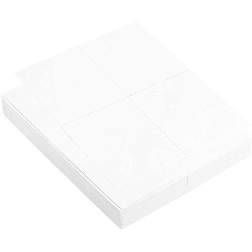 Best Paper Greetings Blanko Postkarten-Papier (Set, 100Blatt)– 210 g/m² - Für Inkjet und Laser Drucker, Insgesamt 400Bedruckbare Postkarten - Weiß, 21,6 x 27,9 cm - AUSVERKAUF