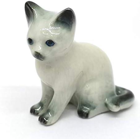Porcelain cat figurine