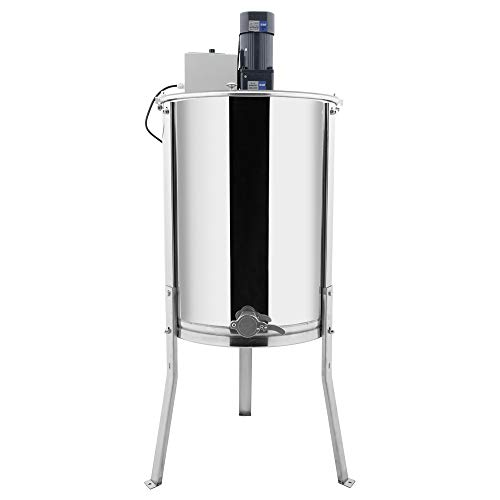 VINGLI Electric 4 Frame Honey Extractor Separator,Food Grade Stainless Steel Honeycomb Spinner Drum with Adjustable Height Stands,Beekeeping Pro Extraction Apiary Centrifuge Equipment