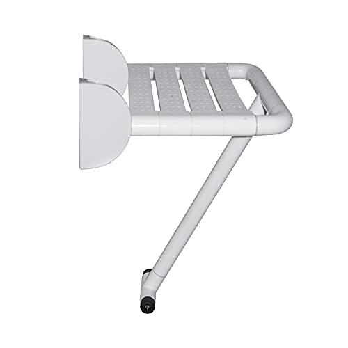 tochean シャワーチェア ウォールマウント バスチェア 304ステンレス鋼 吊り下げ式 バスルームシート 壁掛け 折りたたみシャワースツール 高齢者・障害者・妊婦・肥満の人に最適 浴室介助 多機能 浴室イス 介護用椅子 玄関椅子 組立簡単 耐荷重25