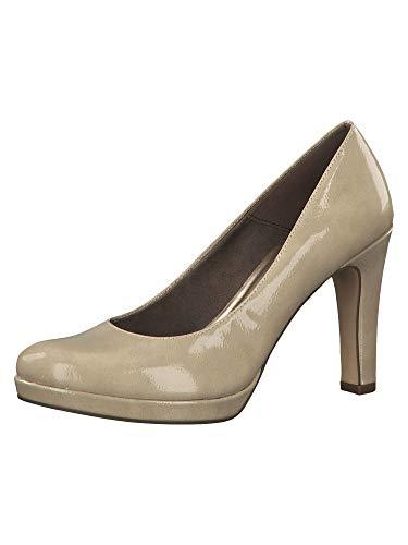 Tamaris 1-1-22426-23, Zapatos con Plataforma Mujer, Beige (Cream Patent 430), 40 EU